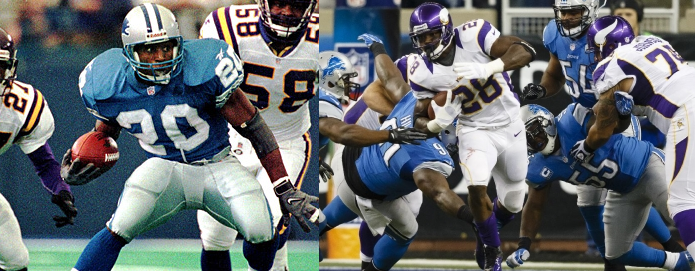 Barry Sanders Adrian Peterson