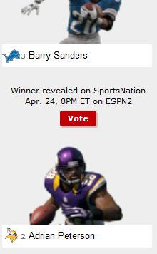 adrian peterson barry sanders
