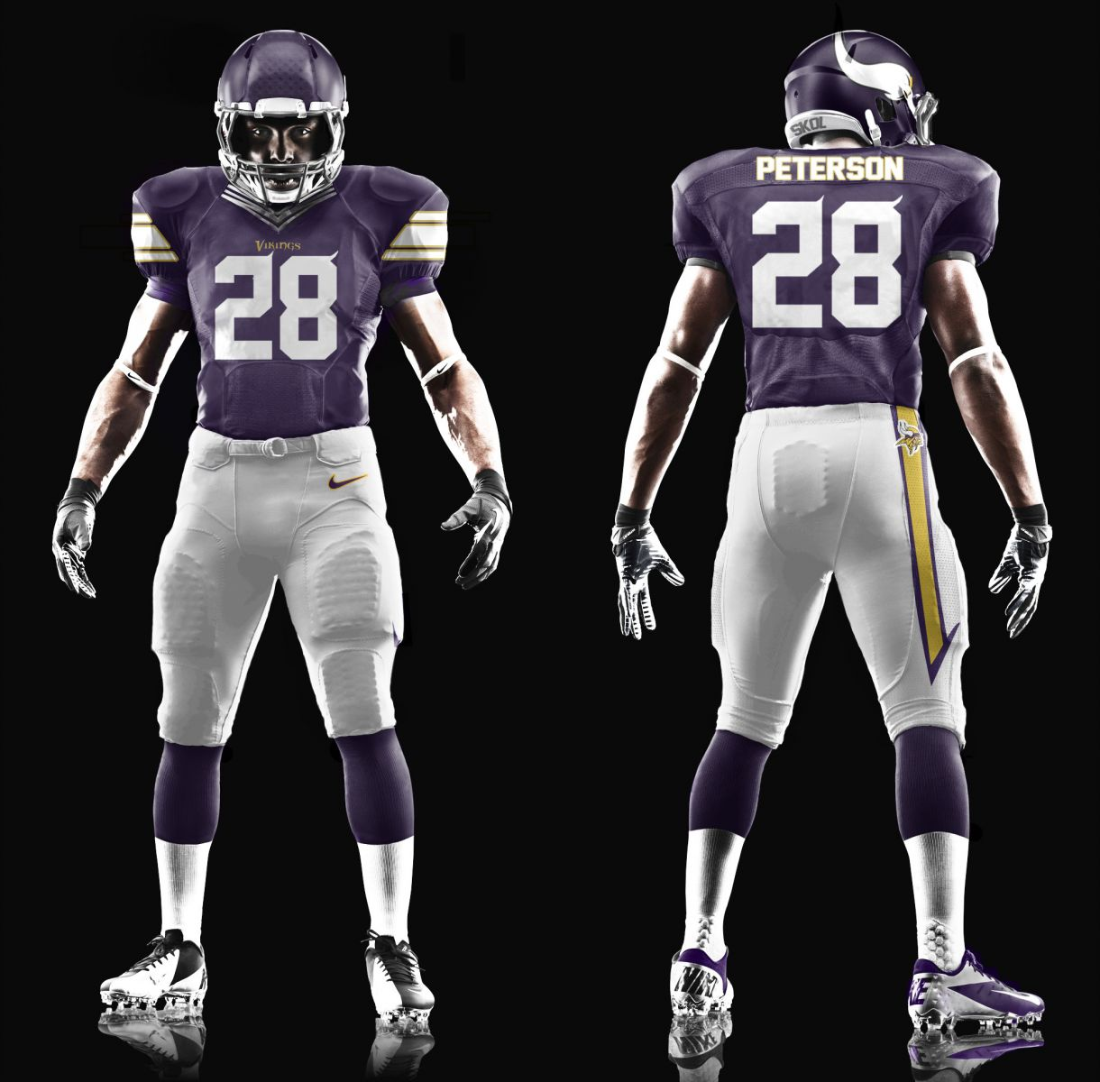 New Vikings Uniform Mock Ups