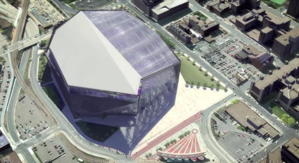 New Vikings Stadium Roof