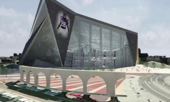 vikings stadium courtyard