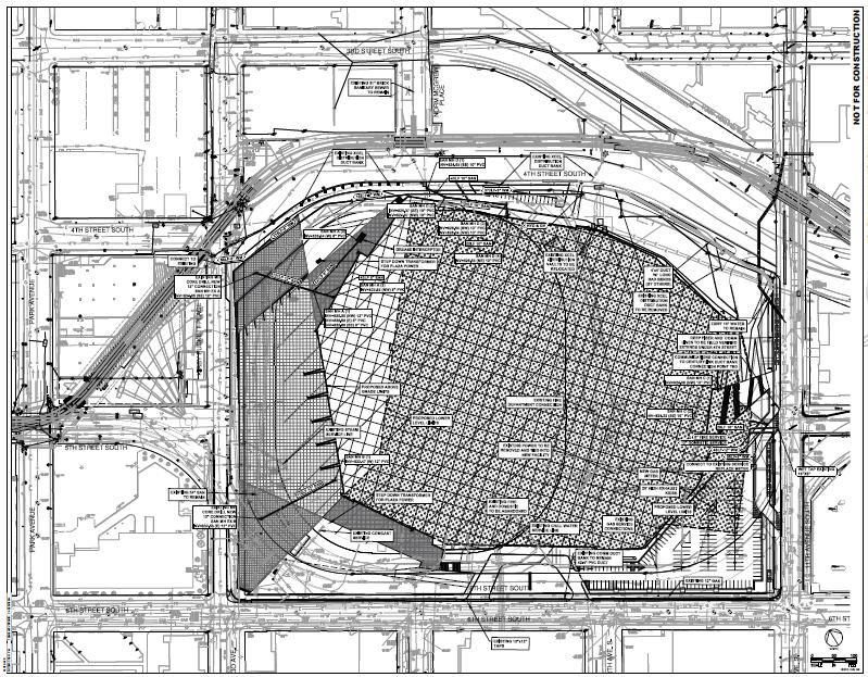 Vikings Stadium Street Plans