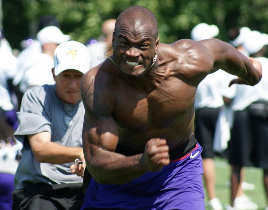 Adrian Peterson Shirtless