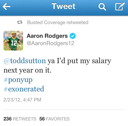 Rodgers Tweets Braun