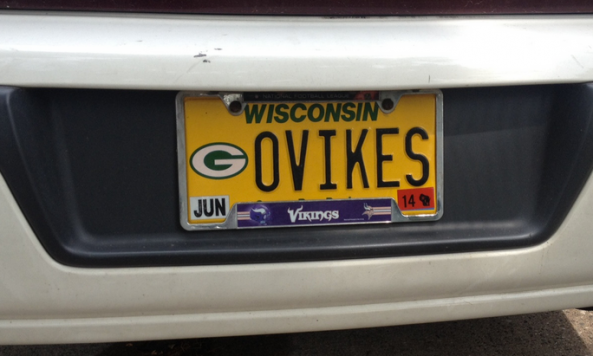 vikings license plate in wisconsin