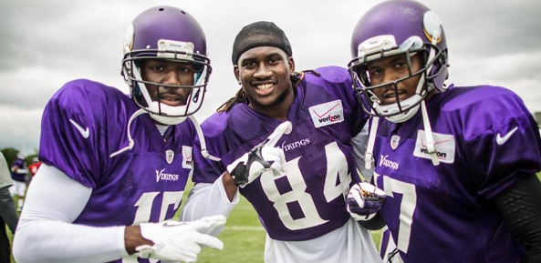 2013 vikings receivers three deep