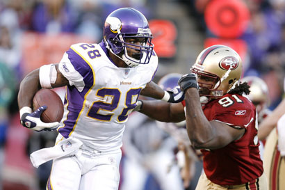 Peterson and 49ers