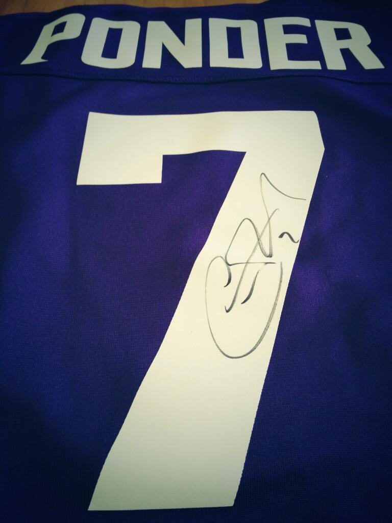 Signed Christian Ponder Jersey Contest