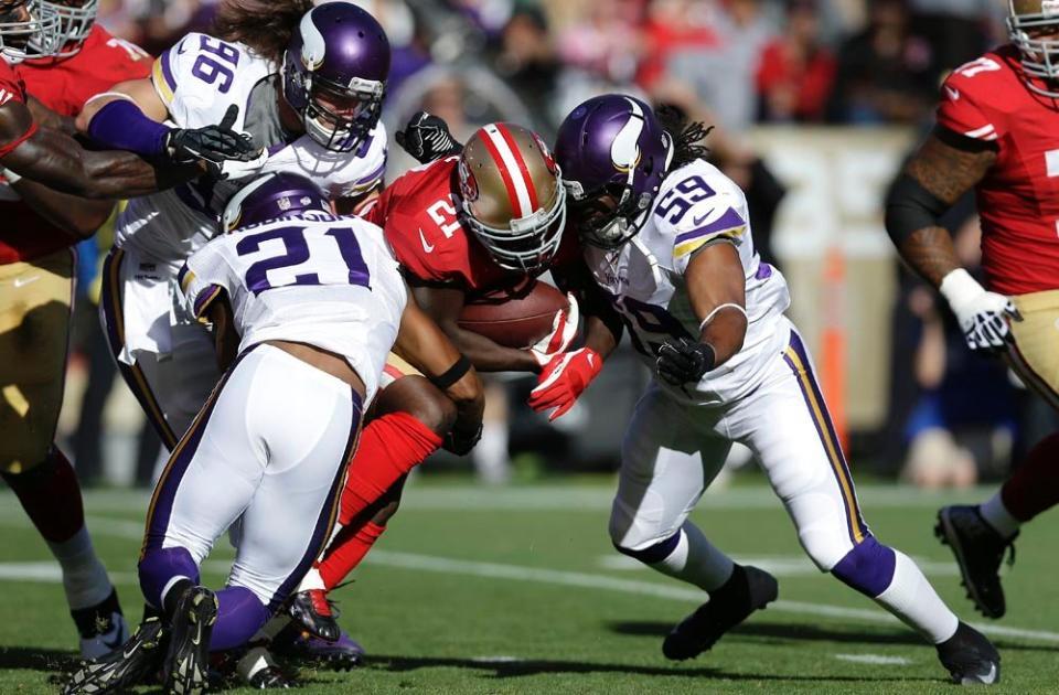 Vikings defense vs the 49ers