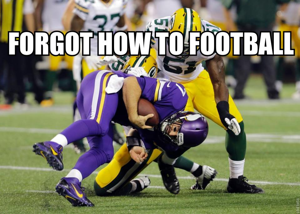 Christian ponder Forgot Football
