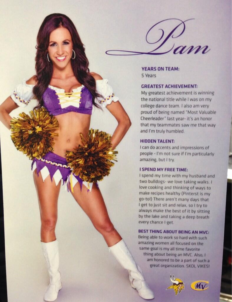 Pam Vikings Pro Bowl Cheerleader