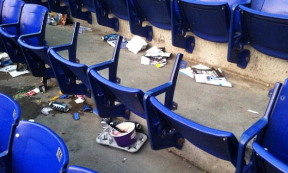fans steal metrodome seats