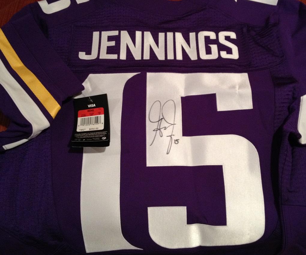 Win a signed greg Jennings jersey