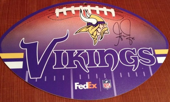 signed greg jennings sign