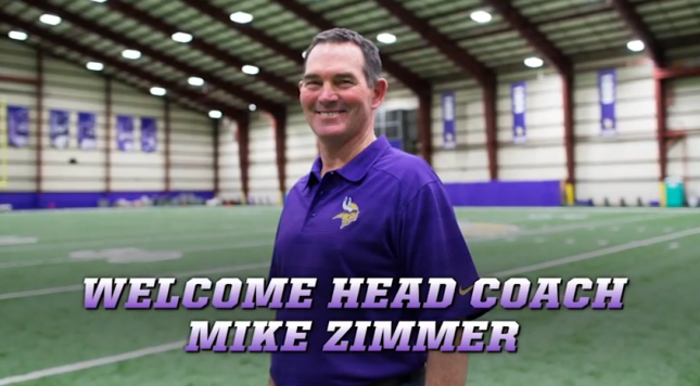 vikings hire mike zimmer