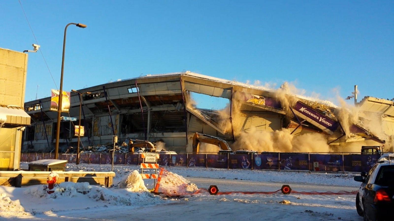 Metrodome Explodes