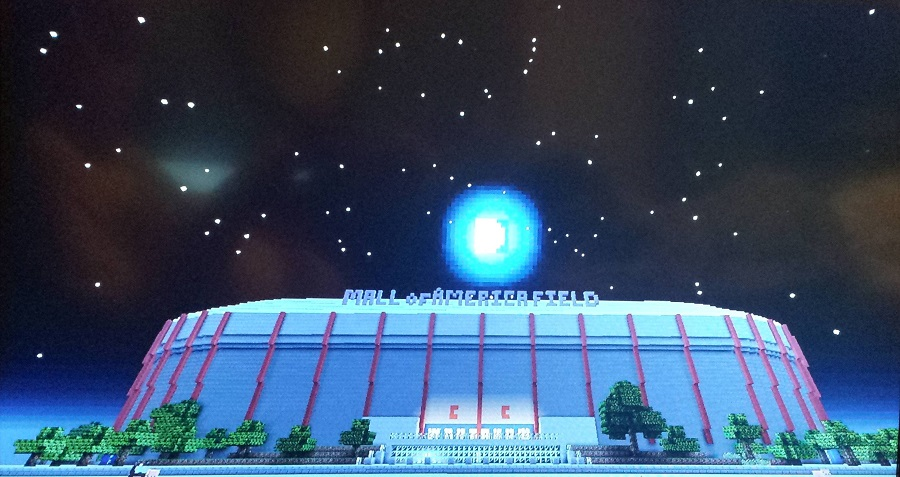Night at the Minecraft Metrodome