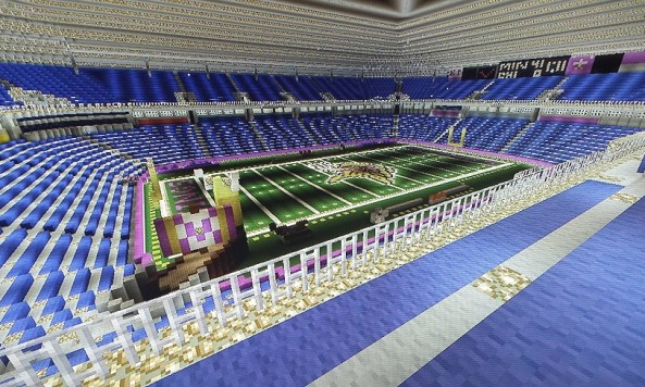 inside the minecraft metrodome