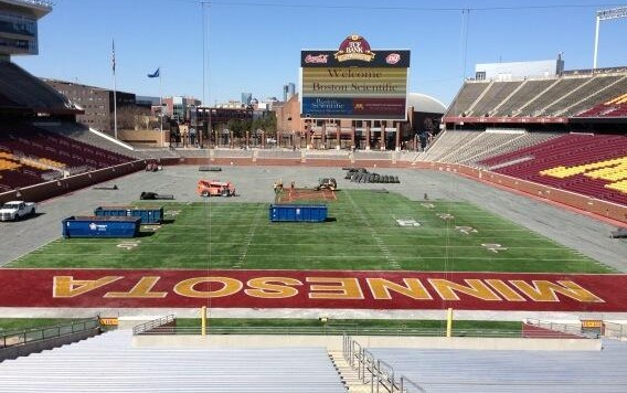 tcf bank field turf 2014