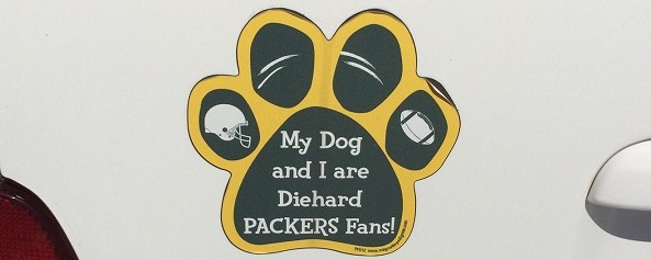packers fans animal cruelty banner