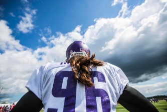 brian robison vikings training camp 2014