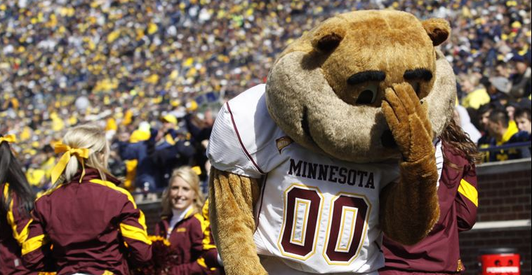 goldy gopher face palm