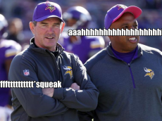 mike zimmer wet fart lions 2014