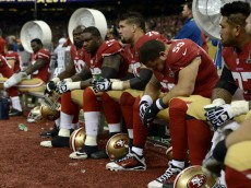 San Francisco 49ers players sit on the bench during the second quarter of Super Bowl XLVII, Sunday, Feb. 3, 2013, at the Superdome in New Orleans. (Jose Carlos Fajardo/Bay Area News Group)