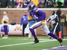 MINNEAPOLIS, MN - DECEMBER 7: Cordarrelle Patterson #84 of the Minnesota Vikings returns a kick against the New York Jets in the fourth quarter on December 7, 2014 at TCF Bank Stadium in Minneapolis, Minnesota. (Photo by Adam Bettcher/Getty Images)