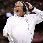 NEW ORLEANS, LA - OCTOBER 27:  Defensive Coordinator Rob Ryan of the New Orleans Saints reacts to a play against the Buffalo Bills at Mercedes-Benz Superdome on October 27, 2013 in New Orleans, Louisiana.  (Photo by Chris Graythen/Getty Images)