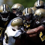 METAIRIE, LA - JULY 30:  Members of the New Orleans Saints practice on the first day of Training Camp on July 30, 2010 in Metairie, Louisiana.  (Photo by Chris Graythen/Getty Images)