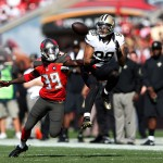 TAMPA, FL - DECEMBER 28: Nick Toon #88 of the New Orleans Saints makes a 24-yard reception in front of Brandon Dixon #39 of the Tampa Bay Buccaneers during the first half of the game at Raymond James Stadium on December 28, 2014 in Tampa, Florida. (Photo by Joe Robbins/Getty Images)