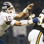 New York Giants linebacker Brad Van Pelt (10) during a 28 to 17 Giants loss to the New Orleans Saints on Oct. 29, 1978 at the Superdome in New Orleans.(AP Photo/NFL Photos)