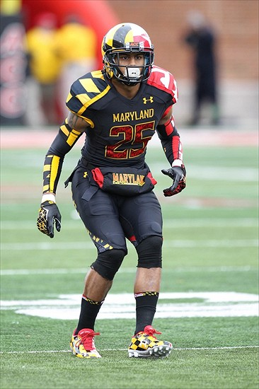 Despite his short stature and horrid Maryland uniform, McDougle earned a Third-Round selection. (Image: TerpsNation)