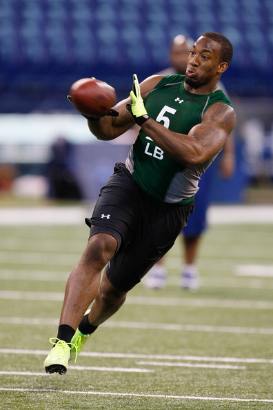 Aaron Curry at the 2009 NFL Combine