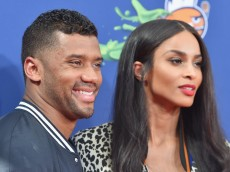 WESTWOOD, CA - JULY 16:  Host Russell Wilson (L) and recording artist Ciara attend the Nickelodeon Kids' Choice Sports Awards 2015 at UCLA's Pauley Pavilion on July 16, 2015 in Westwood, California.  (Photo by Alberto E. Rodriguez/Getty Images For KCSports2015)
