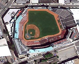 fenway park from above
