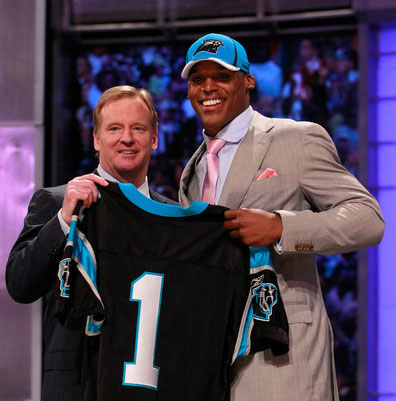 Cam Newton and Roger Goodell. Not pictured: Boos.