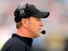 JACKSONVILLE, FL - DECEMBER 23:  Head coach Mike Mularkey of the Jacksonville Jaguars watches the action during the game against the New England Patriots at EverBank Field on December 23, 2012 in Jacksonville, Florida.  (Photo by Sam Greenwood/Getty Images)