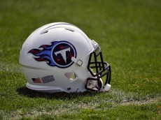 NASHVILLE, TN - MAY 16:  A helmet rests on the ground at the Tennessee Titans rookie camp on May 16, 2014 in Nashville, Tennessee.  (Photo by Frederick Breedon/Getty Images)