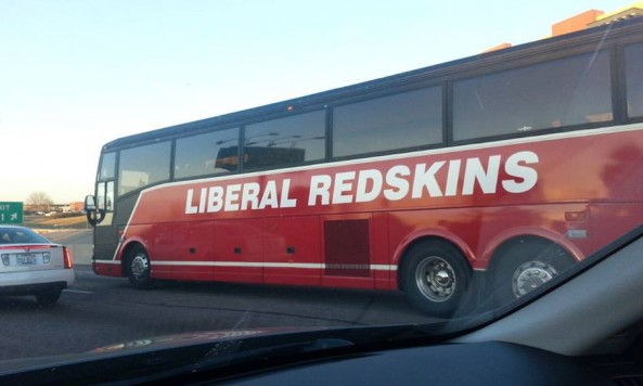 liberal redskins team bus
