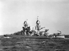 USS Arizona at sea in the 1930s