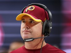 GLENDALE, AZ - OCTOBER 12: Head coach Jay Gruden of the Washington Redskins on the sidelines during the first half of the NFL game against the Arizona Cardinals at the University of Phoenix Stadium on October 12, 2014 in Glendale, Arizona.  (Photo by Christian Petersen/Getty Images)