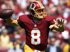 LANDOVER, MD - SEPTEMBER 14: Quarterback Kirk Cousins #8 of the Washington Redskins in action against the Jacksonville Jaguars at FedExField on September 14, 2014 in Landover, Maryland. The Washington Redskins won, 41-10. (Photo by Patrick Smith/Getty Images)