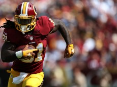 LANDOVER, MD - SEPTEMBER 20: Running back Matt Jones #31 of the Washington Redskins carries the ball in the third quarter during a game against the St. Louis Rams at FedExField on September 20, 2015 in Landover, Maryland. (Photo by Matt Hazlett/Getty Images)