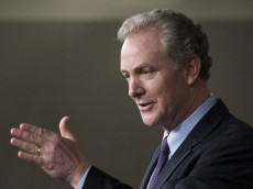 UNITED STATES - APRIL 3: House Budget ranking member Rep. Chris Van Hollen, D-Md., speaks during the press conference with House Minority Leader Nancy Pelosi, D-Calif., on the House Republican budget on Thursday, April 3, 2014. (Photo By Bill Clark/CQ Roll Call) (CQ Roll Call via AP Images)