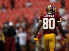 LANDOVER, MD - AUGUST 20: Jamison Crowder #80 of the Washington Redskins warms up prior to the start of a preseason game against the Detroit Lions at FedEx Field on August 20, 2015 in Landover, Maryland.  (Photo by Matt Hazlett/Getty Images) *** Local Caption *** Jamison Crowder