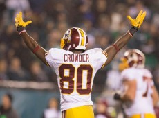 PHILADELPHIA, PA - DECEMBER 26: Jamison Crowder #80 of the Washington Redskins reacts in the game against the Philadelphia Eagles on December 26, 2015 at Lincoln Financial Field in Philadelphia, Pennsylvania.  The Redskins defeated the Eagles 38-24. (Photo by Mitchell Leff/Getty Images)
