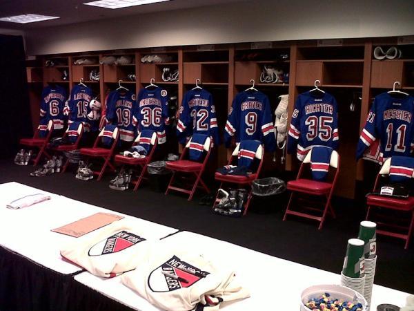 Pic Rangers Alumni Locker Room Ready The New York