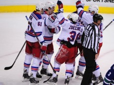 NHL: New York Rangers at Vancouver Canucks